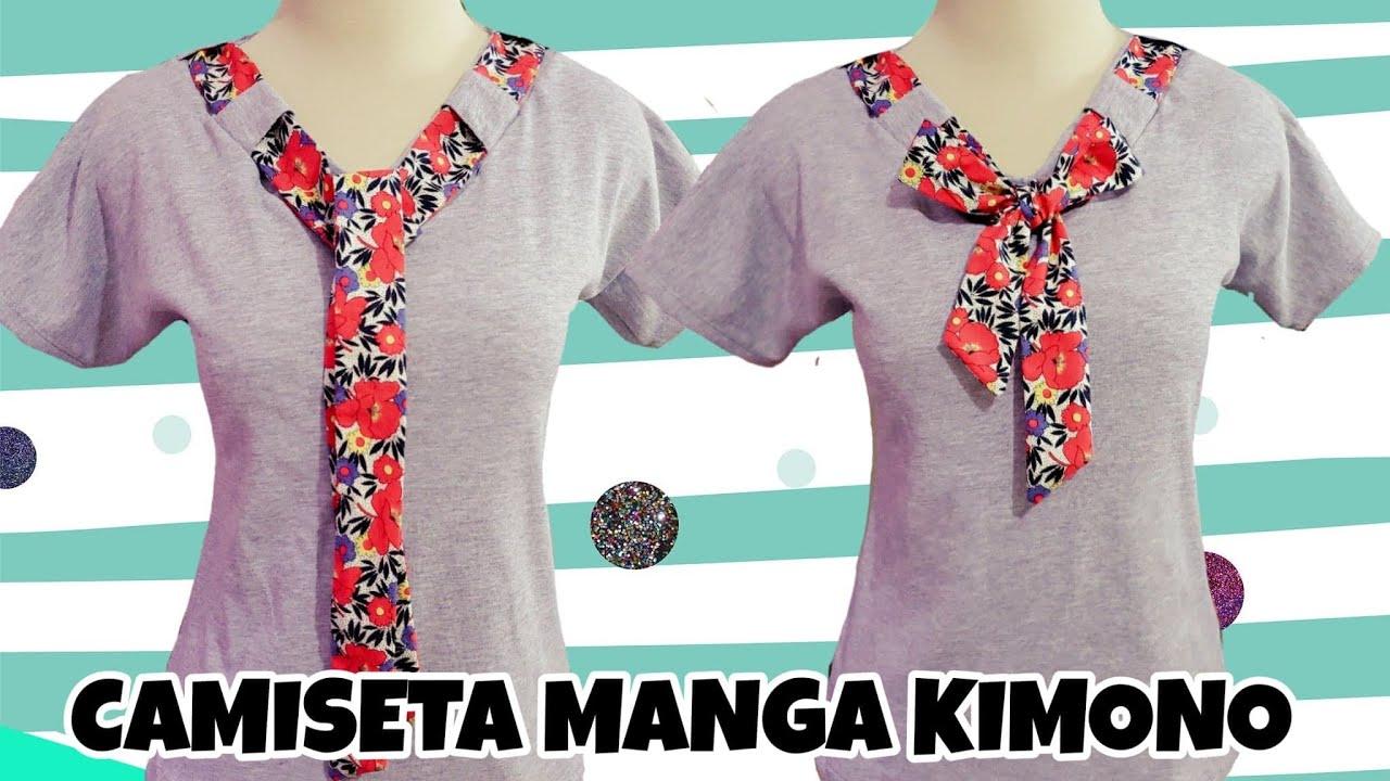 CAMISETA MANGA KIMONO (patrón y confección)