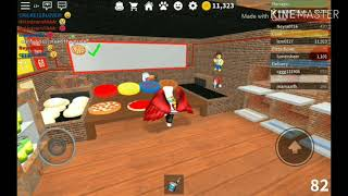 Roblox Cook works at a Pizza place tutorial , employee of the day