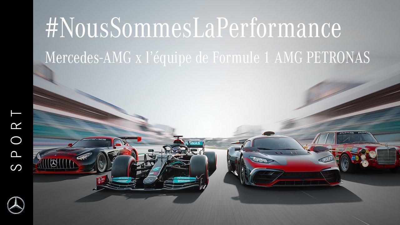 #NousSommesLaPerformance   Mercedes-AMG x l'équipe de Formule 1 AMG PETRONAS