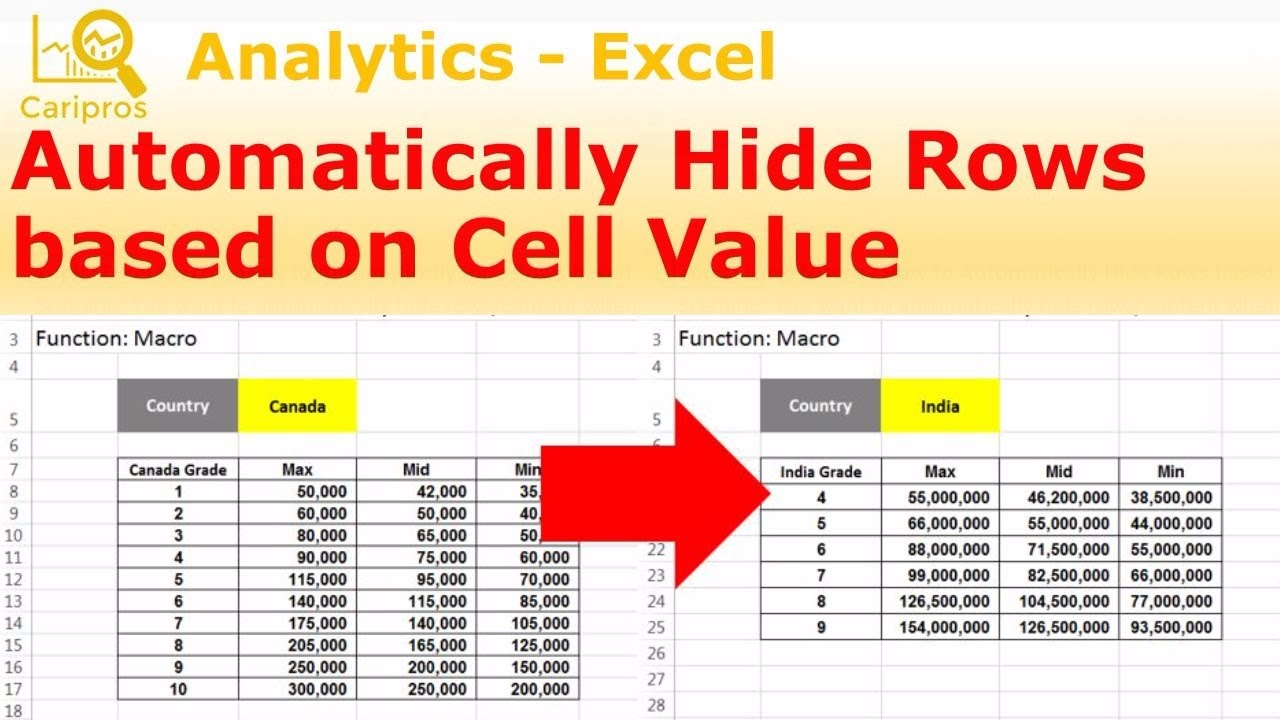 How to automatically hide rows based on cell value macro for how to automatically hide rows based on cell value macro for beginner ccuart Choice Image