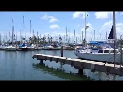 Ala Wai yacht harbor cruiser boat Ilikai hotel Ilikai Marina Hawaii Prince hotel 20150523 PM0108