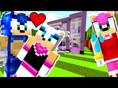 Minecraft Sonic The Hedgehog - Amy Saw Sonic Kissing Rouge! [37]