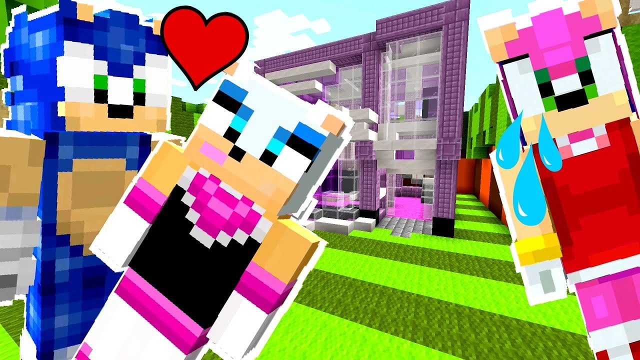 Amy Rose And Rouge Kiss minecraft sonic the hedgehog - amy saw sonic kissing rouge! [37]