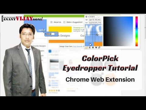 How To Find Color HTML Code — ColorPick Eyedropper Tutorial - Chrome Web Extension - Hindi