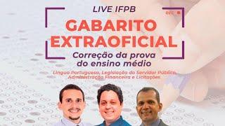 Gabarito extraoficial - IFPB (nível médio)