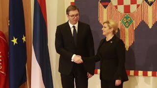 Serbia's president visits Croatia under high security