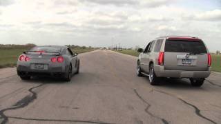 Nissan GT-R vs. Hennesey Cadillac Escalade