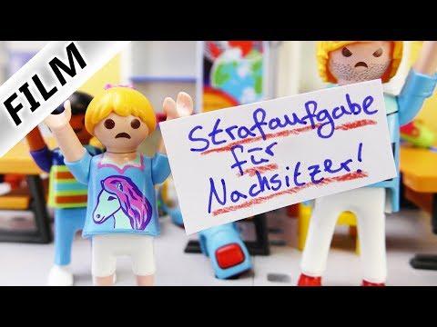 Playmobil Film Deutsch - NACHSITZEN FÜR ALLE! HANNAHS RACHE AM MOBBER! Schulfilm Familie Vogel