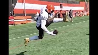 Odell Beckham Jr. one-handed trick catch | Cleveland Browns