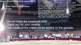 Sumo World Championships 2018 Semifinals,Final