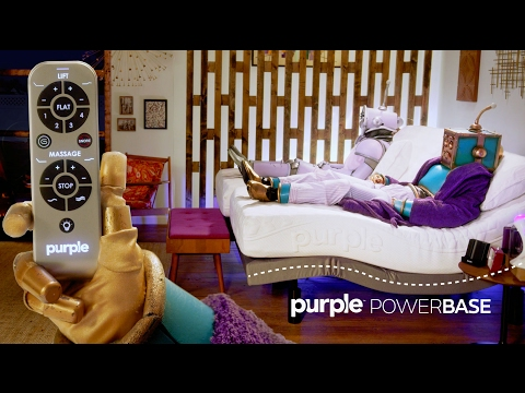 The Purple Powerbase A Massaging Adjustable Bed Purple