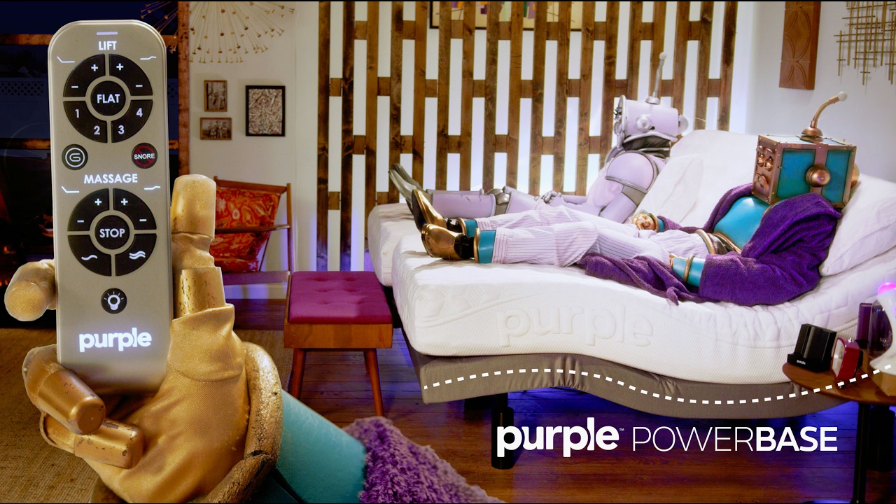 purple powerbase the adjustable bed that you never knew you always wanted youtube. Black Bedroom Furniture Sets. Home Design Ideas