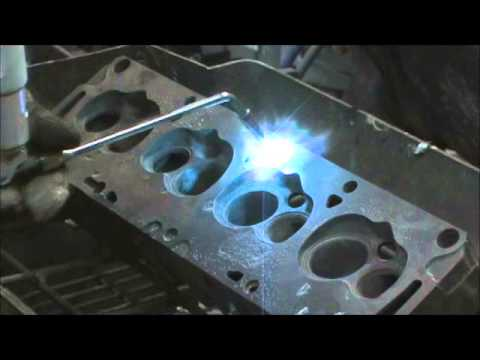 Cast Iron Spray Welding procedure on Ford FE 390 Heads Part 2