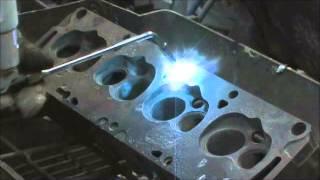 Cast Iron Spray Welding procedure on Ford FE 390 Heads Part 2