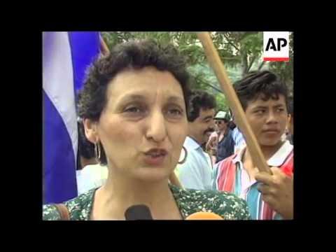 EL SALVADOR : PROTEST OVER US SANCTIONS ON CUBA