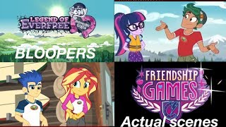 Equestria Girls (Bloopers Compared To Actual Scenes)