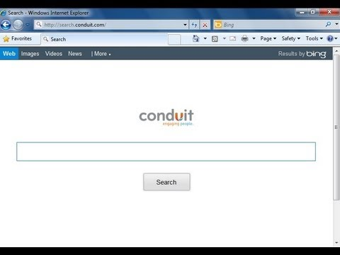 how to remove search conduit from chrome