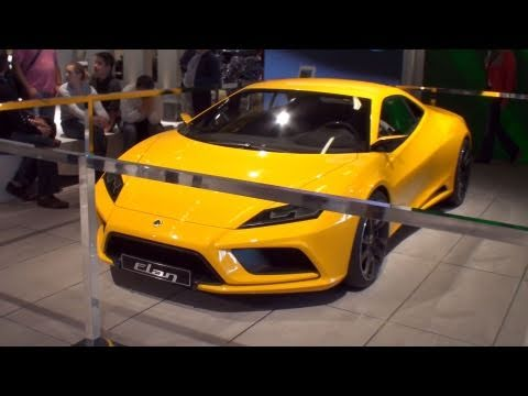 Lotus Elan Concept - Paris Mondial de l\'Automobile 2010 - YouTube