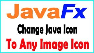 JavaFX - Change Java Icon to any Image Icon