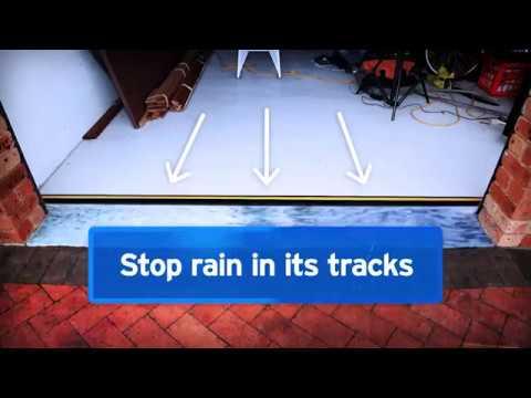 Cleverseal Garage Door Dam Floor Threshold Youtube