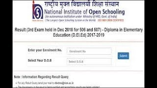 NIOS DELED 506 507 result 2019 declared: Check Now || Hindi