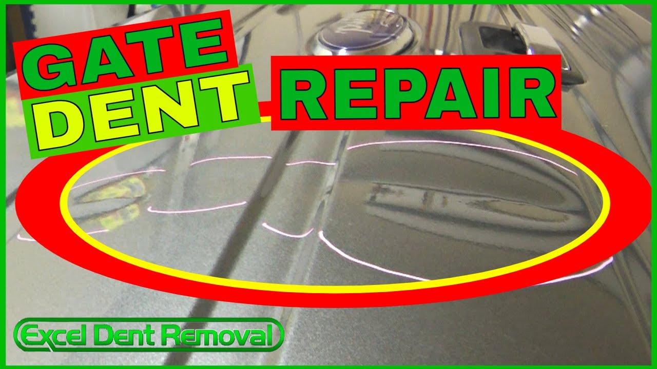 Ford F150 Tailgate Big Dent Repair With Paintless Dent Removal Youtube