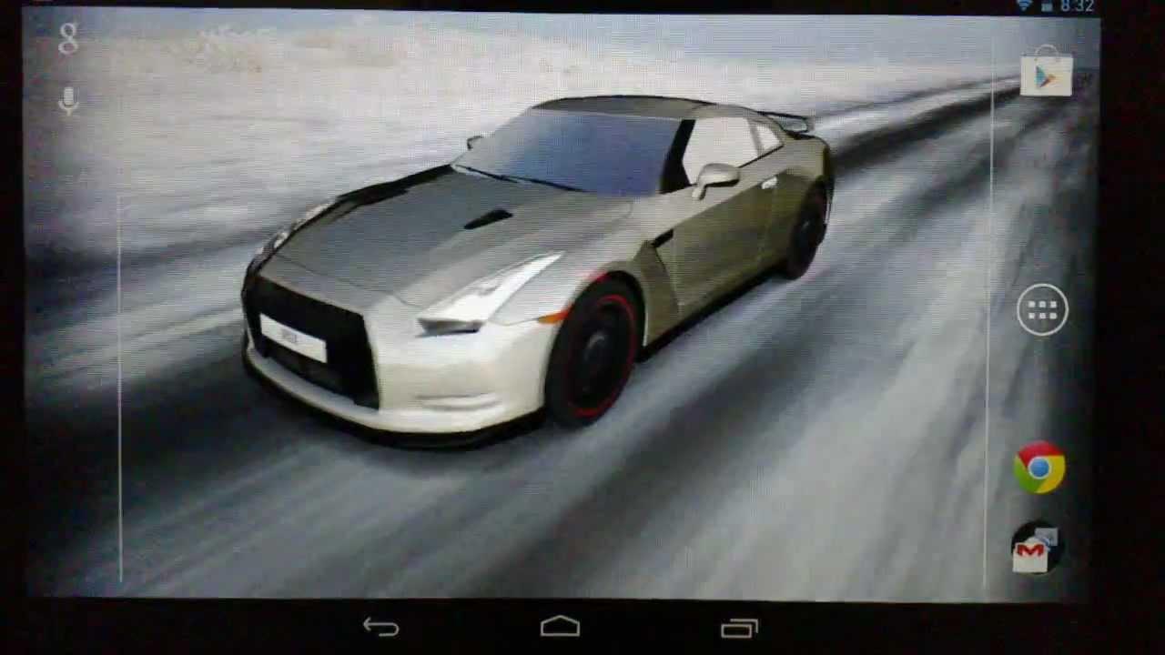 3D Car Live Wallpaper - YouTube