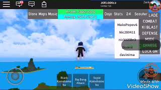 Playing Roblox from Dragon Ball Rage