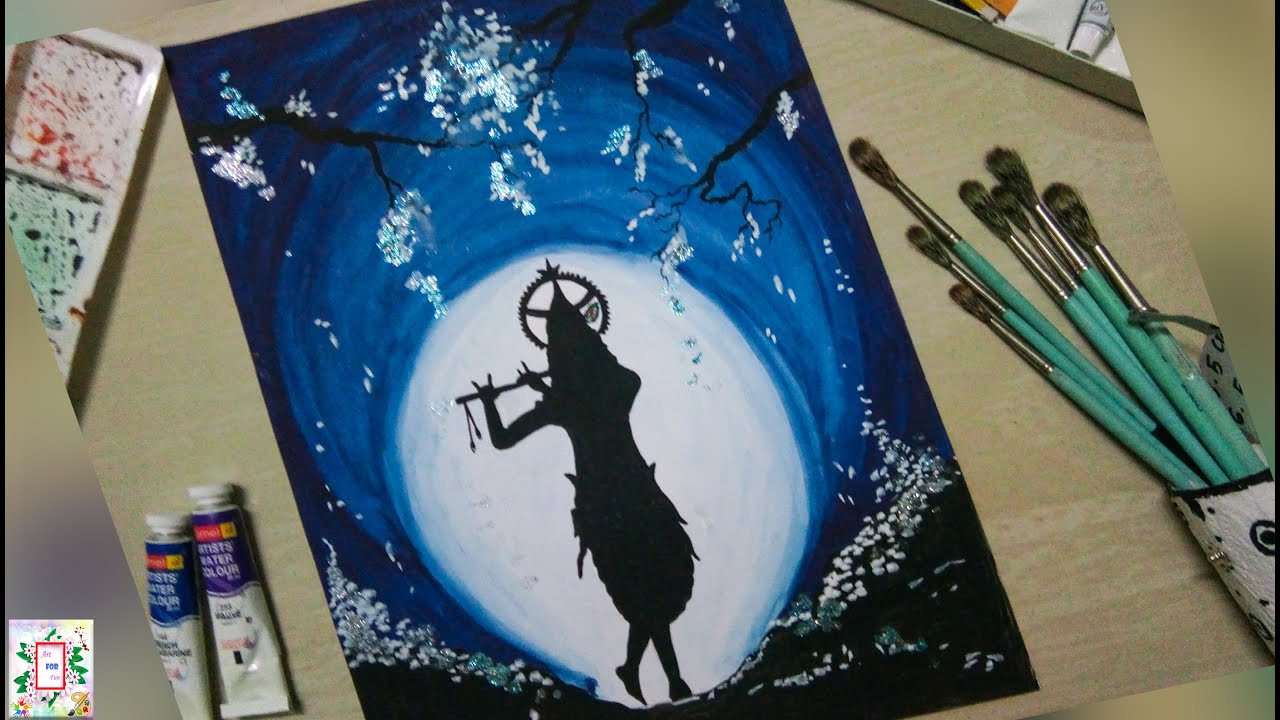 Drawing Of Lord Krishna - Water Colour | Abstract Art | Art For Fun ...