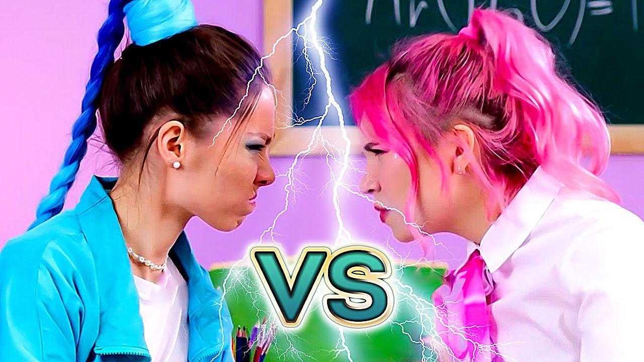 💖 PINK girl VS 💙 BLUE girl CHALLENGE