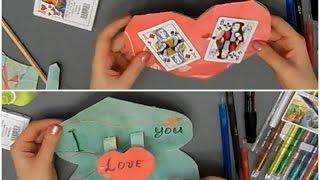 3D Открытка на День Святого Валентина Сердце ♥ Как сделать валентинку из бумаги своими руками