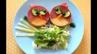 Веселые детские бутерброды. Фото