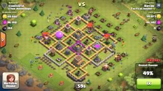 Clash of Clans - TH 8 Air Raid Destruction