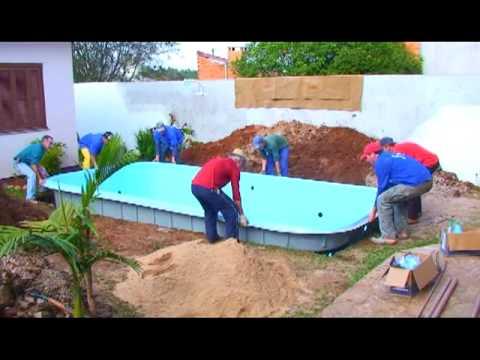 Gua azul fibras youtube for Piscina desmontable 4x3