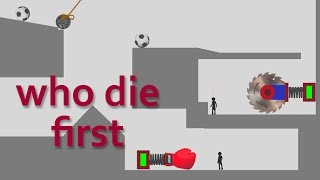 who die first - stupid stickman - domino