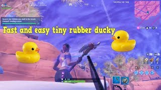 BEST WAY TO GET THE TINY RUBBER DUCKY Fortnite summer challenge