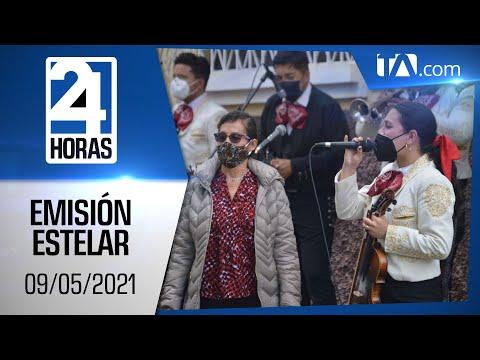 Noticias Ecuador: Noticiero 24 Horas 09/05/2021 (Emisión Dominical - Estelar)