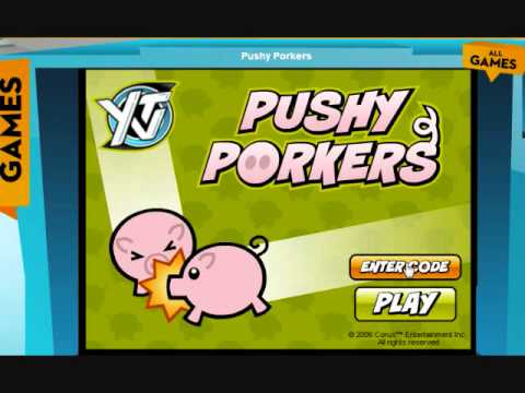 YTV Game Codes: Pushy Porkers - YouTube