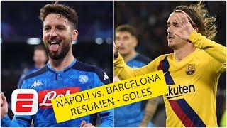 Napoli 1-1 Barcelona. Gol de Griezmann dejó vivo al Barça en Nápoles | GOLES UEFA CHAMPIONS LEAGUE