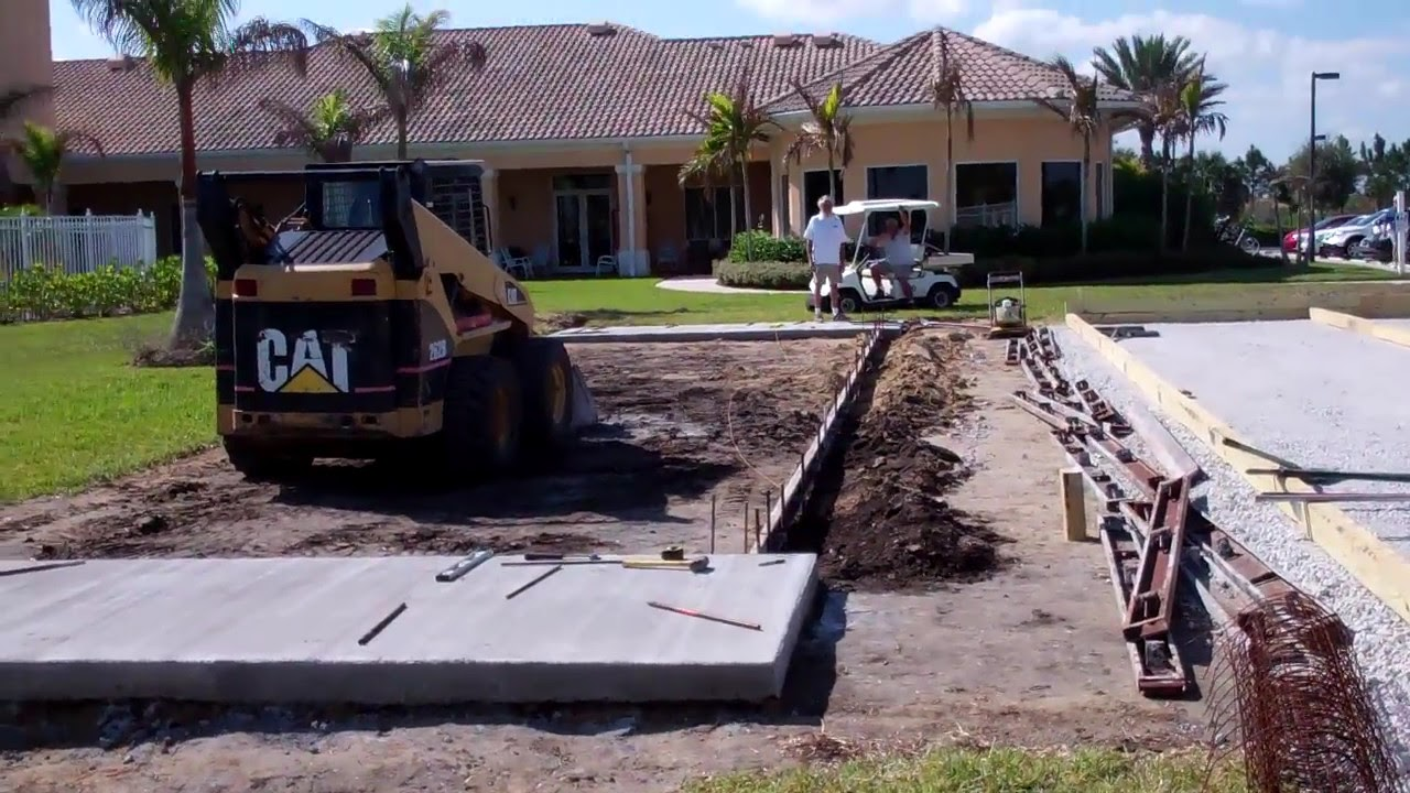 basketball court construction - YouTube