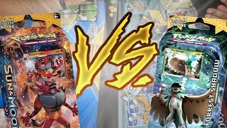 ROARING HEAT vs FORREST SHADOW | Pokémon TCG: Sun & Moon Theme Deck Battle
