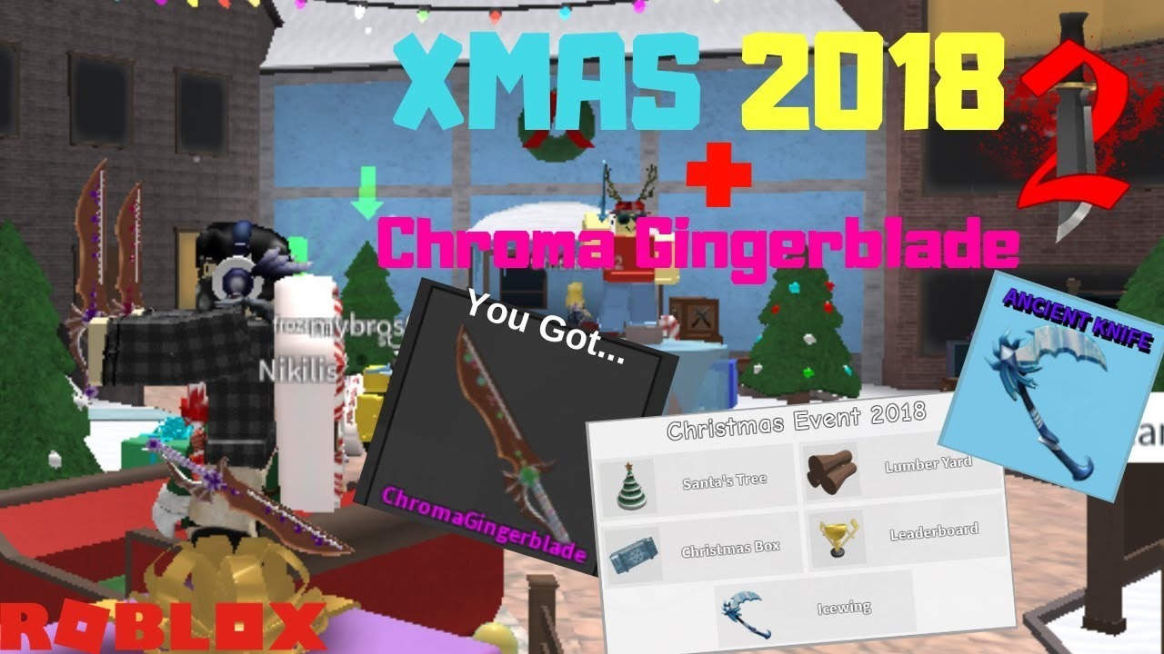 Roblox Murder Mystery 2 Mm2 Chroma Gingerblade Godly Roblox Murder Mystery 2 2018 Xmas Event Guide Chroma Gingerblade By Chowinz
