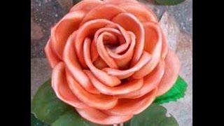 Rosa con Molde y Pintura  Paso a Paso Parte 1 de 2