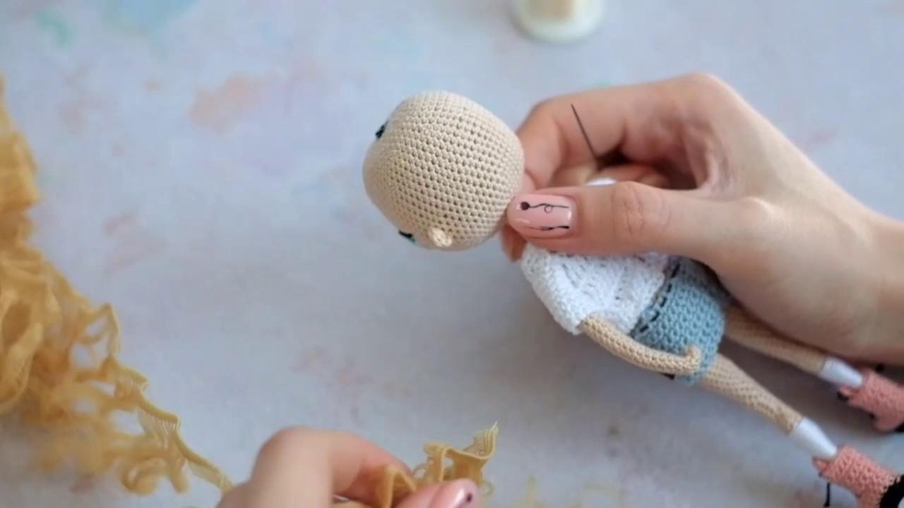 амигуруми кукла трессы волосы для куклы Croched Doll Hair