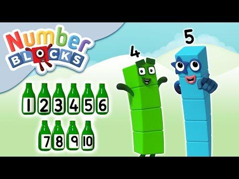 Numberblocks - Ten Green Bottles   Learn To Count