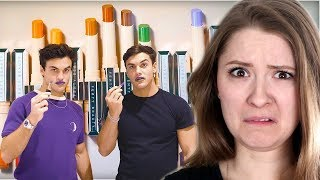 We Created Our Own Makeup Line With Fenty Beauty - Dolan Twins Reaction