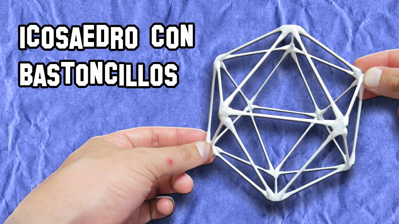 C mo hacer un icosaedro con bastoncillos experimentos - Hacer sorbetes caseros ...