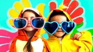 Happy kids Vania and Mania