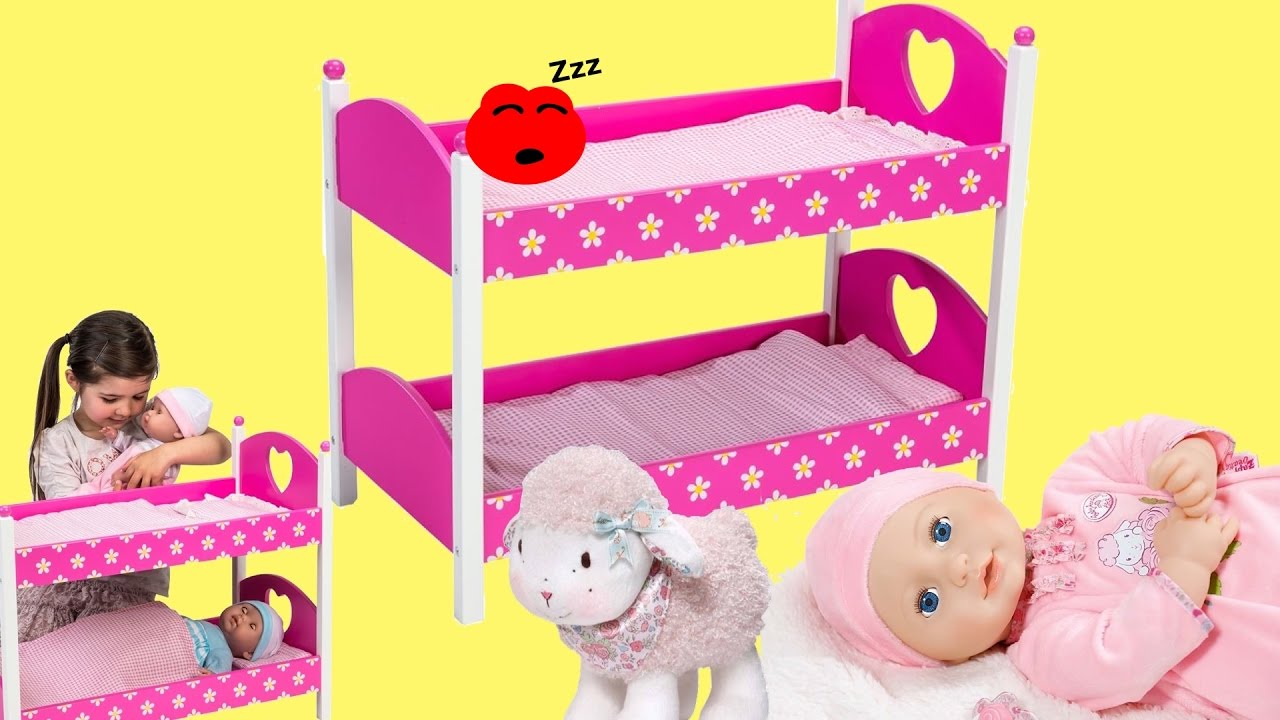 Dimples Dolls Bunk Bed Baby Annabell Baby Born Baby Dolls Bed Time