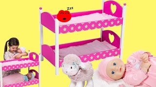 Dimples Dolls Bunk Bed Baby Annabell Baby Born Baby Dolls Bed Time Children Lullaby Songs